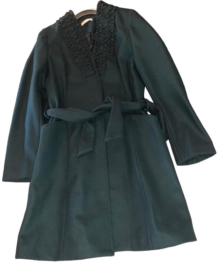 Darling Green Wool Coat for Women