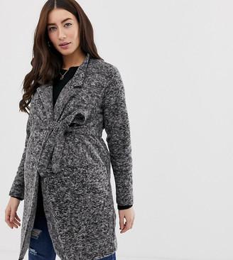 Mama Licious Mamalicious maternity textured coatigan