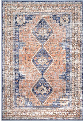 """nuLoom Nelly Vintage-Style Area Rug, Multicolor, 5'x7'5"""""""