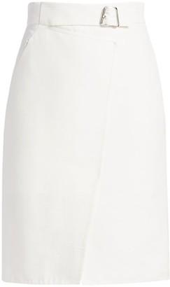 Akris Silk-Blend Wrap-Effect Pencil Skirt