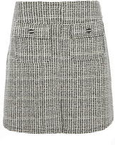 Dorothy Perkins Black and Ivory Textured A-line skirt