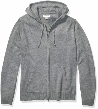Goodthreads Amazon Brand Men's Supersoft Marled Fullzip Hoodie Sweater