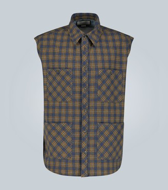 Gucci Check wool vest with label