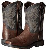 Ariat Workhog Wide Square Toe (Toddler/Little Kid/Big Kid) (Bruin Brown/Black) Cowboy Boots