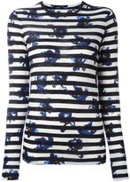 Proenza Schouler Falling Flower print striped T-shirt