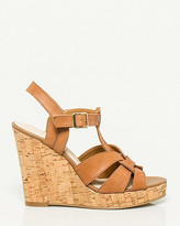 Le Château Leather-Like Strappy Cork Wedge
