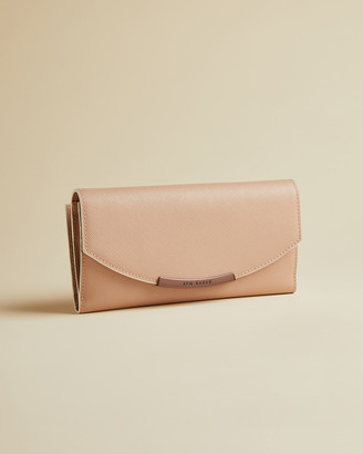 Ted Baker IIONI Leather matinee purse with contrast piping
