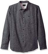 Obey Men's Numbers Long Sleeve Woven Shirt