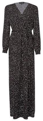 Dorothy Perkins Womens Black Spot Print Wrap Maxi Dress, Black