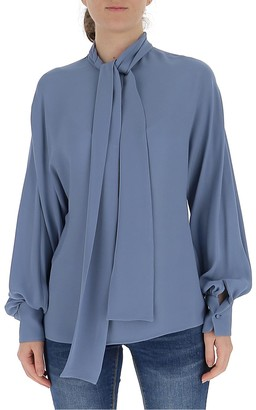 Valentino Scarf Detail Blouse