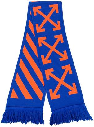 Off-White contrasting arrows scarf