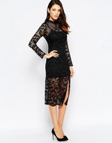 French Connection Millie Sheer Lace Dress