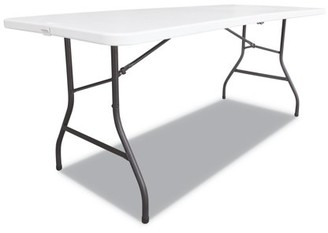 Alera Fold-in-Half Resin Folding Table, 60w x 29 5/8d x 29 1/4h, White -ALEFR60H