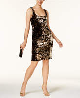 Bardot Velvet Sequined Sheath Dress
