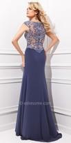 Tony Bowls Le Gala Ornate Scroll Pattern Evening Dress