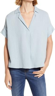 Madewell Park Gauze Popover Shirt