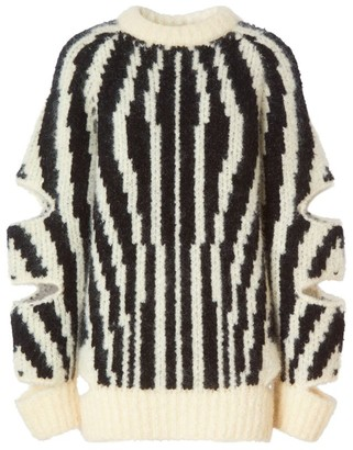 Burberry Jacquard Cut-Out Sweater
