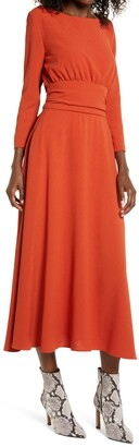 Julia Jordan Three Quarter Sleeve Midi Dress