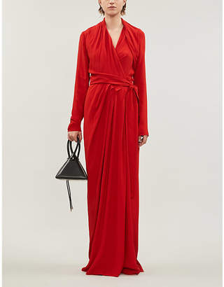 Rick Owens Draped woven maxi dress