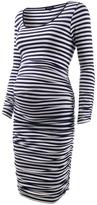Isabella Oliver Stripe Ruched Dress