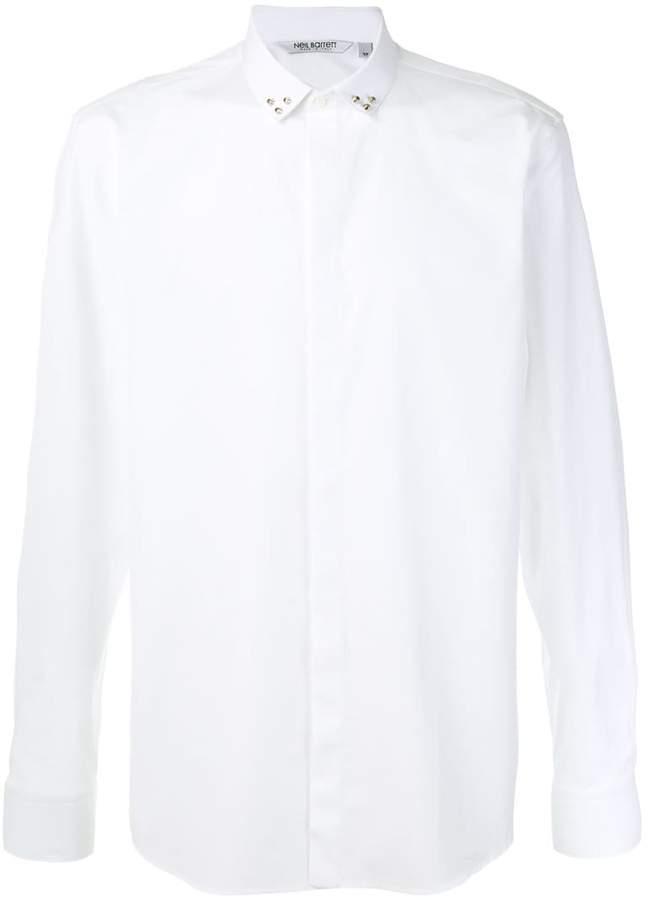 Neil Barrett studded collar shirt