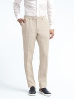 Banana Republic Heritage Slim Cream Linen Suit Trouser