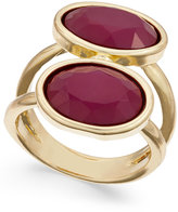 INC International Concepts Gold-Tone Double Stone Statement Ring, Only at Macy's