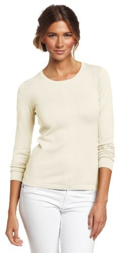525 America Women's Crew Neck Back Zip Sweater