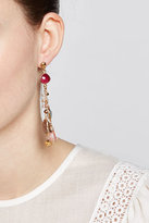 Gas Bijoux 24kt Gold Plated Chandelier Earrings with Quartz