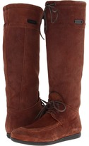 Burberry Suede and Haircalf Moc-Toe Knee-High Boots Women's Pull-on Boots