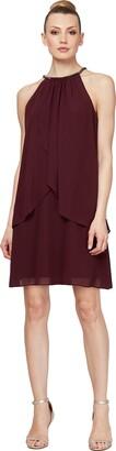 SL Fashions Intimate Apparel (Women) Solid Chiffon Halter Dress