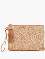 Lucky Brand Golden Embroidery Clutch