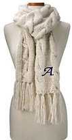 Classic Women's Chunky Cable Scarf-Champagne Heather
