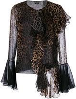 Tom Ford leopard print stylized blouse - women - Silk - 40
