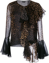 Tom Ford leopard print stylized blouse