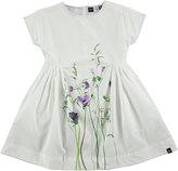 Molo Cady Summer Flowers Poplin Dress, White, Size 2T-12