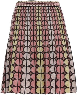 M Missoni Metallic Printed Stretch-knit Mini Skirt