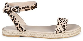 J/Slides Rosie Leopard Calf Hair Walking Sandals