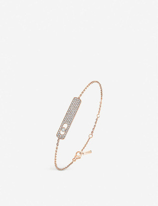 Messika My First 18ct rose-gold and pave diamond bracelet