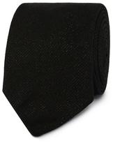 Black Tie Black Metallic Speckled Tie