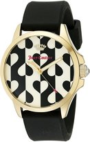 Juicy Couture Women's 1901307 Daydreamer Analog Display Quartz Black Watch