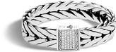 John Hardy Men's Modern Chain 16MM Bracelet in Sterling Silver with Diamonds
