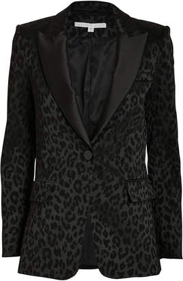 Veronica Beard Ashburn Leopard Dickey Blazer