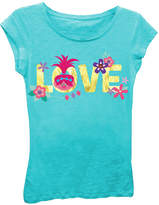 Asstd National Brand Trolls Girls' Princess Poppy Love Short Sleeve Graphic T-Shirt with Gold Foil