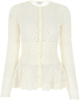 Alexander McQueen Lace Knitted Cardigan