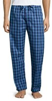 Derek Rose Check Flannel Pajama Pants, Blue