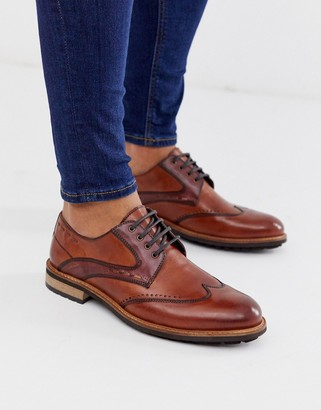 Silver Street leather brogue lace up in tan