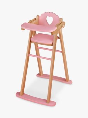 John Lewis & Partners Wooden Doll Highchair