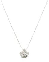 Sydney Evan 14K White Gold & 0.10 Total Ct. Diamond Small Crown Pendant Necklace