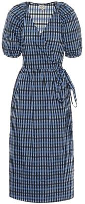 Baum und Pferdgarten Adalaine gingham wrap dress